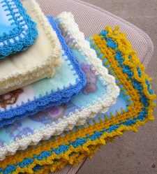 Crochet on Fleece Blankets